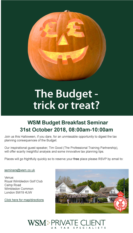 WSM Budget Seminar 2018